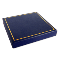Blue Gift Box - Measures: 8.5 x 8.5 x1.5cm 3.3 x3.3 x0.6″