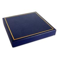 Blue Gift Box - Measures: 8.5 x 8.5 x1.5cm 3.3 x3.3 x0.6″