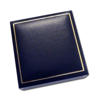 Blue Jewellery Box - Measures: 10 x 10 x 3.3cm - 3.9 x 3.9 x 1.3″