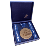 Large Squared Jewellery Box - For a 73mm (2.9″) medal with a ribbon