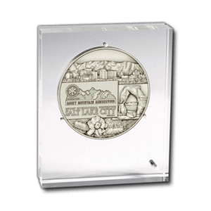 Acrylic Shield - Medal in an Acrylic Shield display support