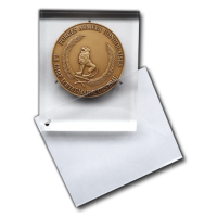 Acrylic Shield - The Support opens to set the Medal