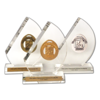 Acrylic Trophies - Sports Medals on Half Moon Trophies