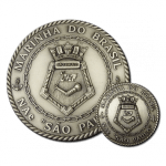 """FIA - Coins - Medal Reduction - 73mm (2.9"""") Medal and 35mm (1.4"""") coin."""