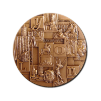 Customized Medals - Material - Stamped Bronze Medal with Bronze Finishing