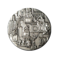 Customized Medals - Material - Stamped Silver Sterling Medal