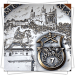 Customized Medals - Relief - Landscape in Intaglio