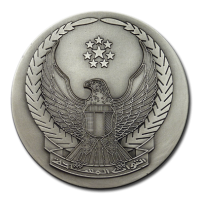 Customized Medals - Antique Silver Plating on 2D Relief