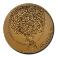 Customized Medals - Bronze Finishing on 2D Relief