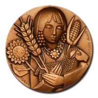 Customized Medals - Red Bronze Finishing on 3D Relief