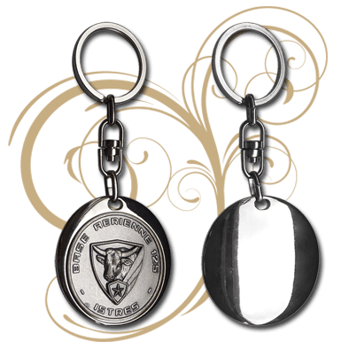 FIA - Keychains - Round Shell Design (Face & Back)
